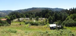 Cementerio de las casitas en Misión San Juan