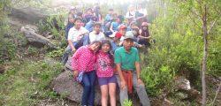 Pichikeches de Colegio Misión San Juan con kimeltuchefe en Loma la Piedra 2015